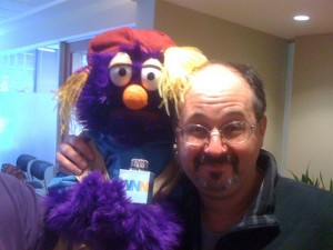 A muppet and his friend Wooberg.
