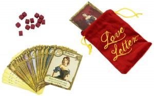 Game pieces from the game Love Letter