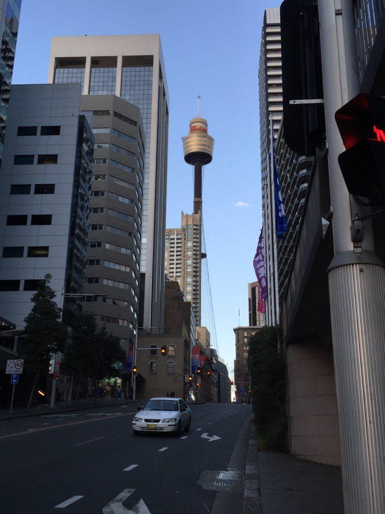 First stop: the Sydney Eye, tallest point in Sydney!