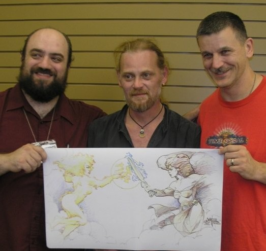 With Steve Ferrell and Quinton Hoover at the Zendikar Prerelease