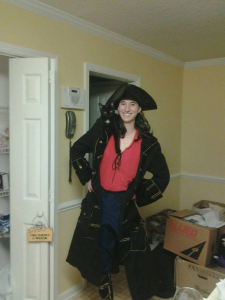 Kali in pirate constume