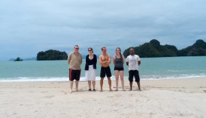 Island vacation before a Grand Prix with Jonathon East, Leanne Capewell, Riccardo Tessitori, and Laura Ellis.